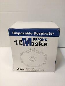 10x PV2 FFP2 Face Mask Valved Respirator Rigid Back inner seal VAT FREE