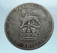 1922 Great Britain UK United Kingdom SILVER SHILLING Coin King George V i78173