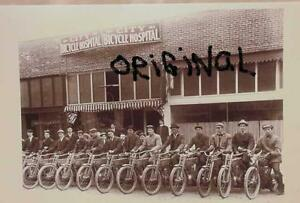 COPY VINTAGE PRE HARLEY DAVIDSON INDIAN MOTORCYCLE CITY BICYCLE HOSPITAL PICTURE