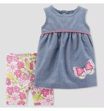 Carters Baby Girl 2 Pc Butterfly Shorts Set 6M