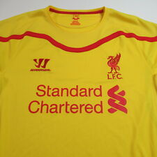 Liverpool Football Club Soccer Jersey Warrior Standard Chartered Yellow LARGE
