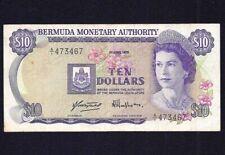 Bermuda 10 Dollars  1978  P-30a   VF