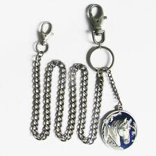 Western Horse Jeans Key Chain Blue Horse Medallion