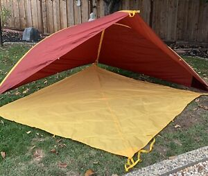 Big Agnes Whetstone Shelter & Footprint Beach Park Picnic Yellow Brick Red Large