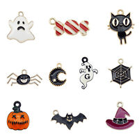 10pcs Assorted Mixed Halloween Series Pumpkin Candy Charms Pendant DIY Findings