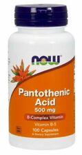 Now Foods Pantothenic Acid - 500 mg - 100 Veg Capsules NOW00488