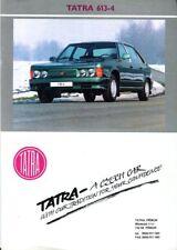 Tatra 613-4 English market sales brochure/leaflet