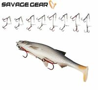 NEW 2019 Savage Gear Carbon49 Corkscrew Stinger For Big Shad 2pcs Pack