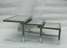 MID CENTURY NESTING TABLES CIGOGNES ROMEO REGA BICOLOR MAISON JANSEN VINTAGE