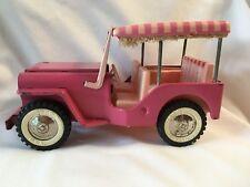 Tonka Toys Jeep Surrey Hot Pink Steel Elvis Presley Blue Hawaii Vintage U.S.A.