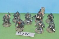 item scifi / 40k - imperial guard command squad 8 (2 metal) - (19388)