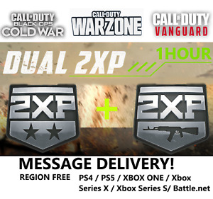 1 Hour Dual XP Call of Duty Cold War + Warzone 2WXP + 2XP