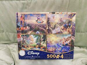 Ceaco Thomas Kinkade 4 in 1 Multi Pack Disney Puzzles 500 Piece