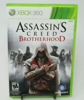 ASSASSIN'S CREED: BROTHERHOOD GAME F/ MICROSOFT XBOX 360, GAME DISC, CASE,MANUAL