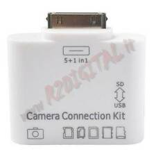 Camera Connection Kit Lettore di Card Reader 5 in 1 con PORTA USB PER IPAD VIDEO