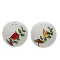 Cardinals Red 2 x 2 Dolomite Ceramic Christmas Salt and Pepper Shaker Set