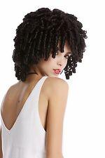 Perruque noir Tire-bouchon Boucles rapide Rasta Volume Karibik Voodoo Sorcière