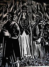 FRANS MASEREEL (1889-1972) WOODCUT - THE GIANTS - LISTED BELGIAN