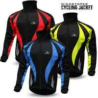 Cycling Jacket Winter Thermal Windstoper Fleece Windproof Long Sleeve Coat NEW