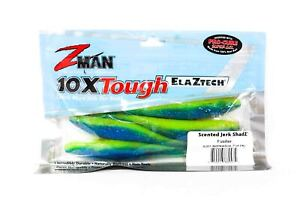 Zman Soft Lure Jerk ShadZ 7 Inch 4 per pack Fusilier (0474)