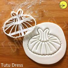 Tutu Dress cookie cutter | ballerina party dancer ballet dance tulle baby shower