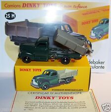 DINKY TOYS ATLAS CAMION TRUCK STUDEBAKER BENNE BASCULANTE REF 25M IN BOX 1/43