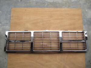 Chrome Grille For GMC Pickup 85-87 Blazer Suburban Jimmy V3500 R1500 R10 V10 V20