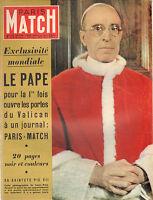 PARIS MATCH N°172 le pape pie XII vatican