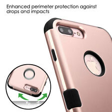 Apple iPhone iPod Rose Gold Hybrid ShockPoof Armor Rubber Hard Case Cover +Plug