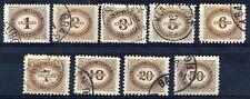 AUSTRIA 1894 Postage due set used