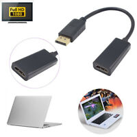 1PC DP Male Displayport To HDMI Female Adapter Cable Converter For Samsung