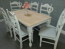 Stunning  Shabby Chic 5FT Farmhouse Table And Chairs - Delivery available