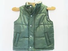 Gymboree Boys Winter Quilted Vest Forest Green. Size 2T-3T Pre-Owned