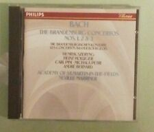 st martin in the fields / marriner BACH THE BRANDENBURG CONCERTOS NOS 1 2 3 CD