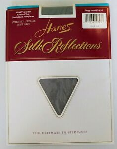 Hanes size AB Silk Reflections blue haze control top sandalfoot 1995 style 717
