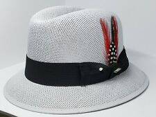 Mens Classic Gray lowrider center crease  hat fedora Derby