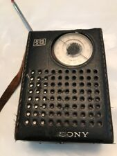 Vintage Sony TFM-850W Transistor Radio FM AM with Leather Case For Repair