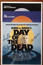 DAY OF THE DEAD POSTER 11 X 17 SIGNED GREG NICOTERO, LORI CARDILLE, GARY KLAR
