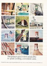 NM 1963 CANADA DRY ROOT BEER/COLA/ORANGE/HI-SPOT SODA CAN MAGAZINE PRINT AD
