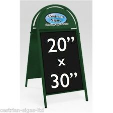 """New Booster Commercial Tubular Magnetic A-frame A-board 20x30"""" Sign GREEN FRAME"""