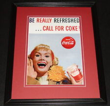 1960s Coca Cola Be Really Refreshed Framed 11x14 Poster Display Official Repro