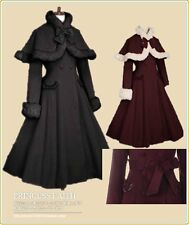 Cosplay kostüm Lolita Gotic Design Winterkleidung Schwarz Rosa Lila PFW0044