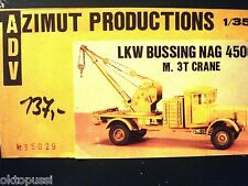 ADV AZIMUT PRODUCTIONS 35029 1:35 LKW BUSSING NAG 4500 M.3T CRANE