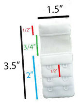 Fullness Bra Accessories Bra Extension Extender for 2 Hook Bras (3pc/pkg) KL7022
