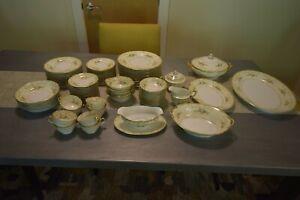 Noritake China Set 12 place settings and serving dishes, circa 1930