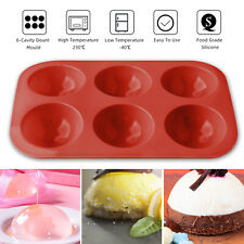 Silicone 6 Cavity Half Ball Sphere Cake Molds Muffin Chocolate Baking Pan Mould