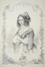 LODOVICA SLAPACZINSKA - Porträt - O. Cardon - Lithographie 1845