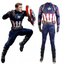 Avengers Captain America Civil War Steve Rogers Cosplay Costume Full Set