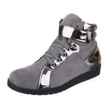 Mustang 1146507 Silber, Schuhe, Sneaker & Sportschuhe, Hohe Sneaker, Blau, Female, 36