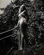 Sexy Patti Morgan Pose In Bra And Shorts Stamped 10X8 Vintage Photograph